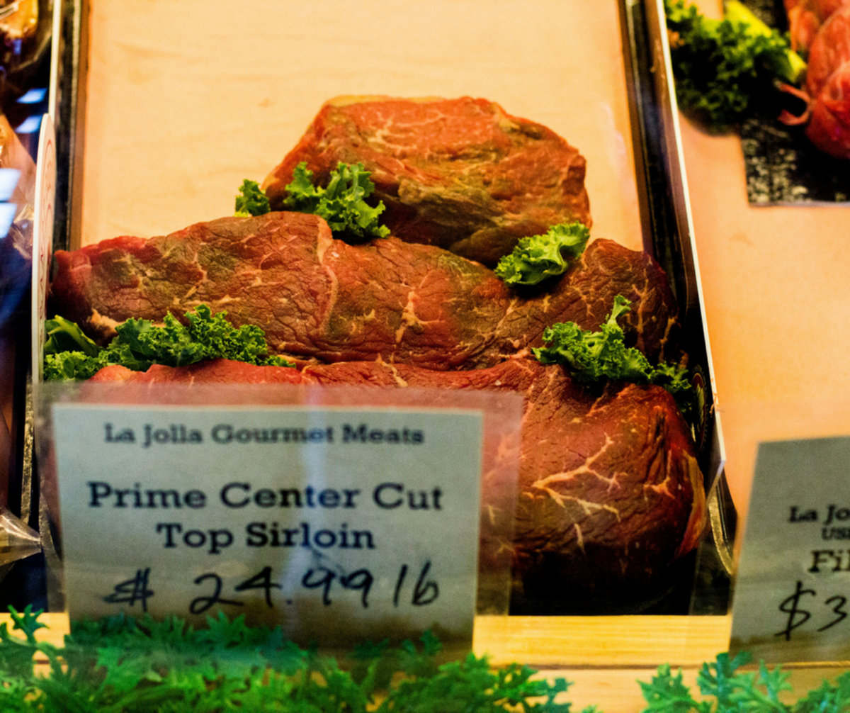 A prime sirloin cut, known for its tenderness.