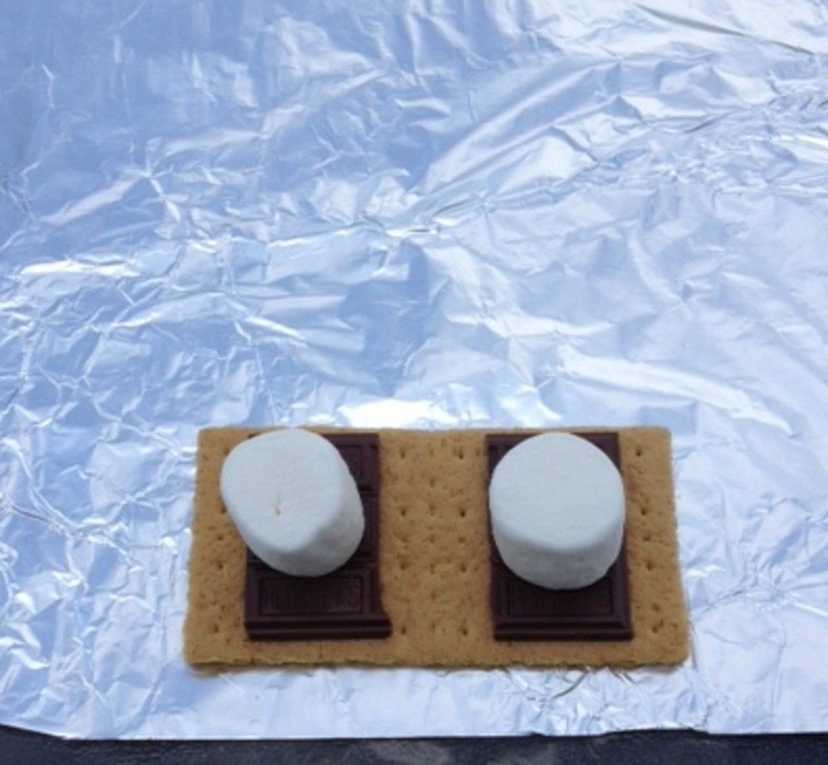 S'mores under construction