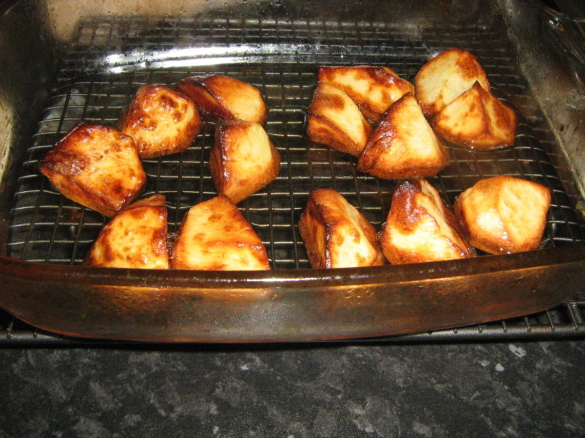 Cooked Roast Potatoes