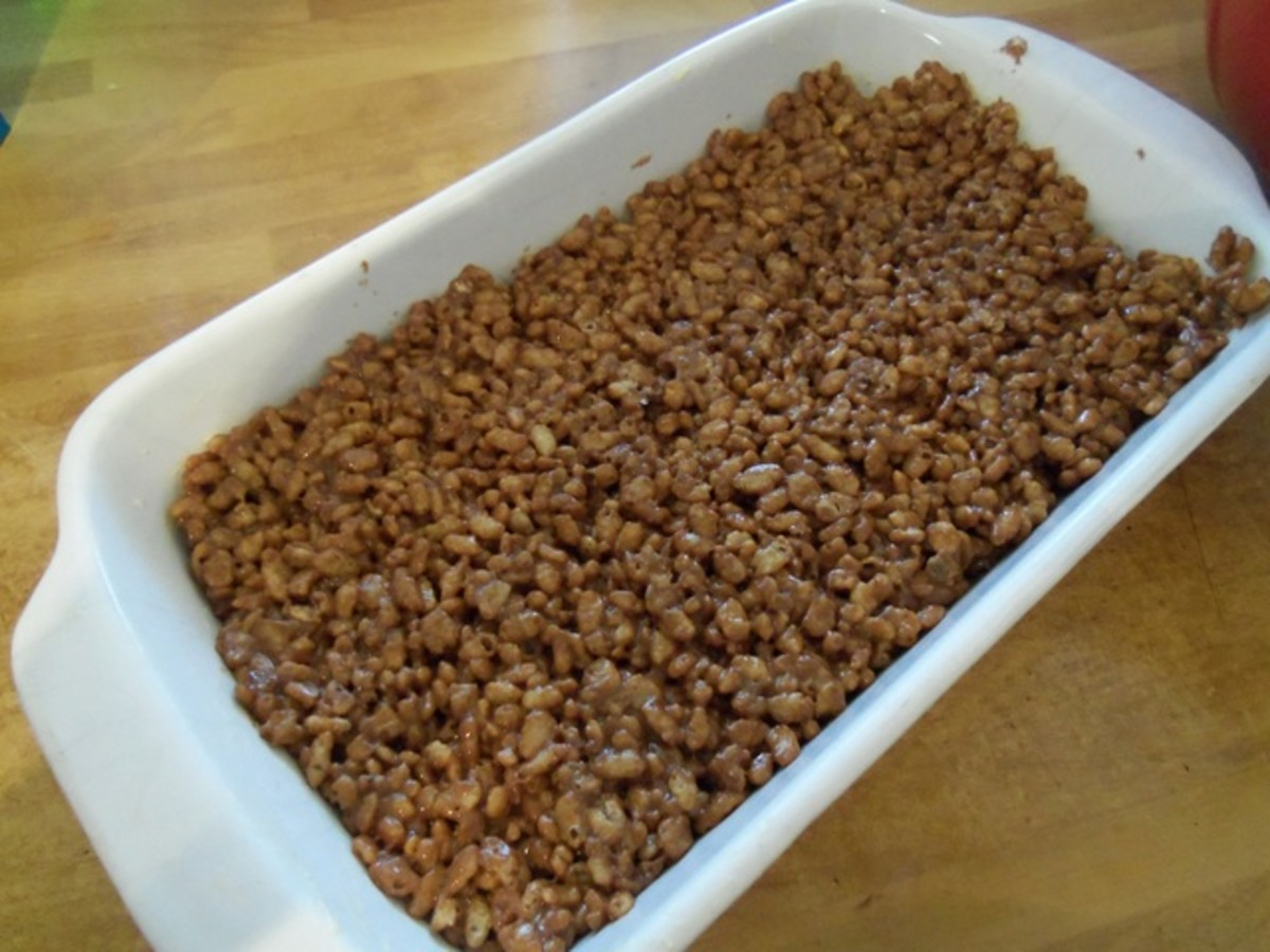Press the mixture into the base of your baking dish.