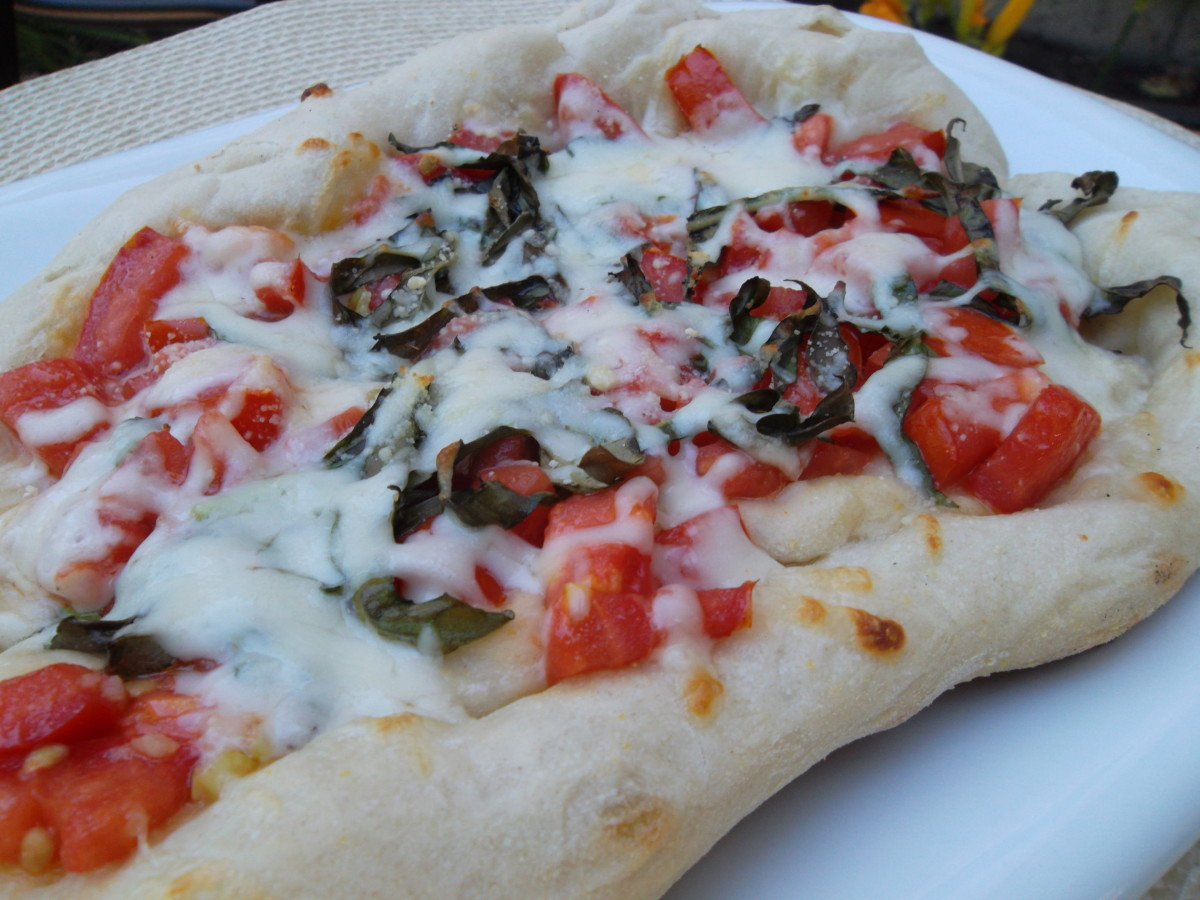 Grilled pizza makes a crisp pizza crust.