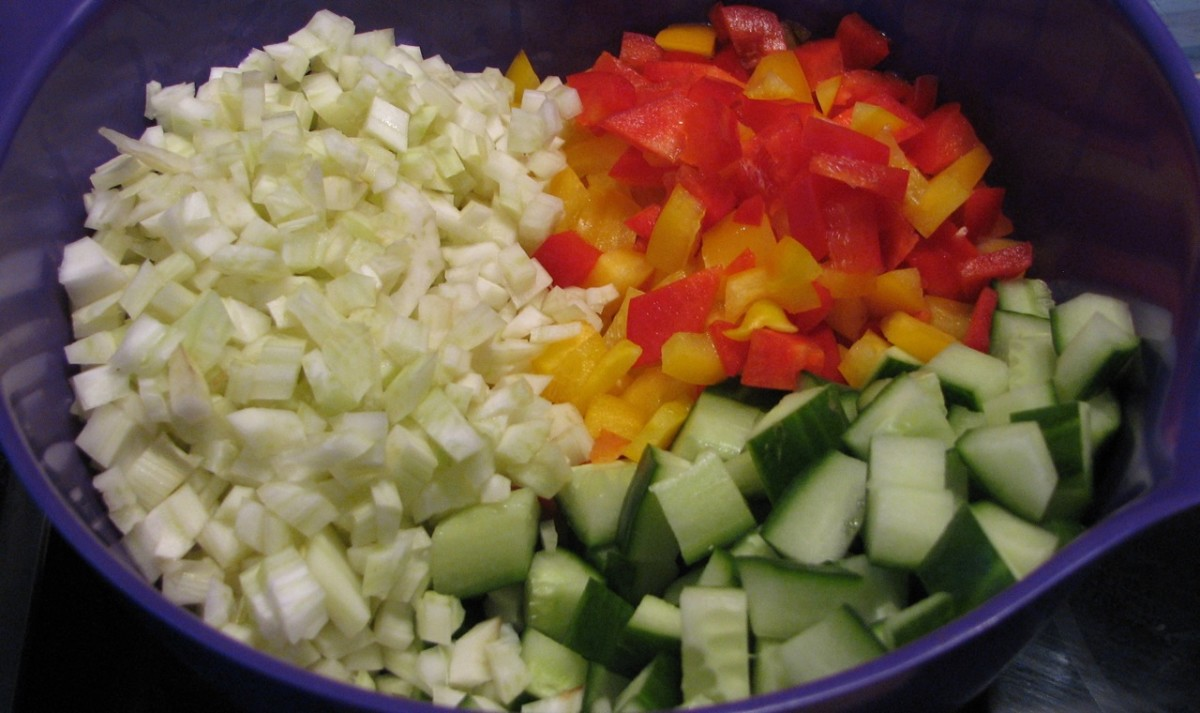 Chopped vegetables - colorful!