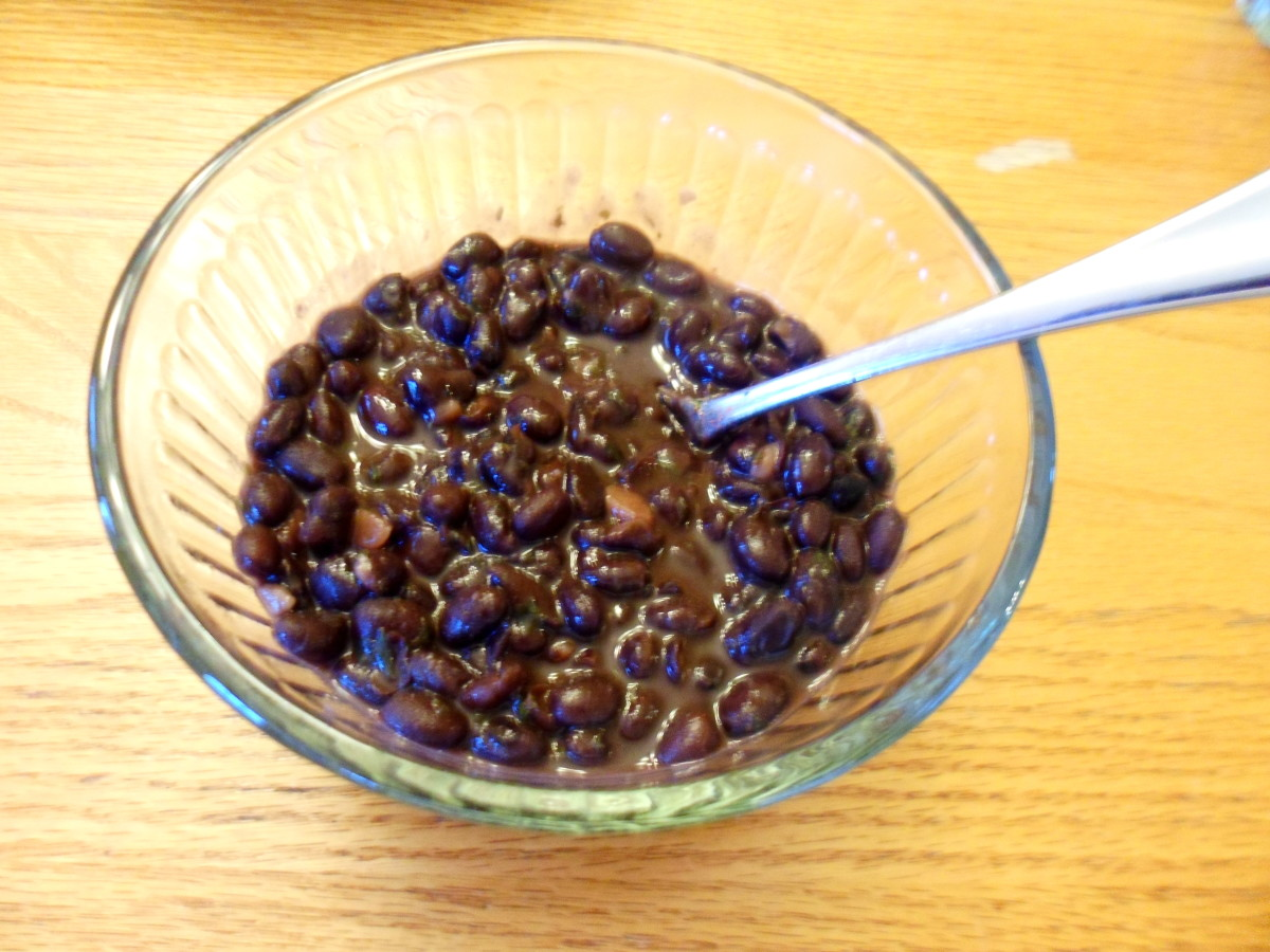 Our finished bowl of black beans.
