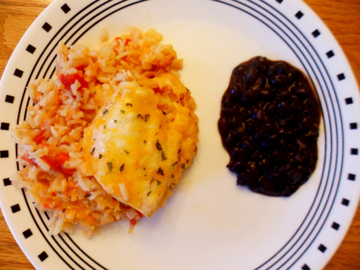 Our Santa Fe chicken with a side of black beans.