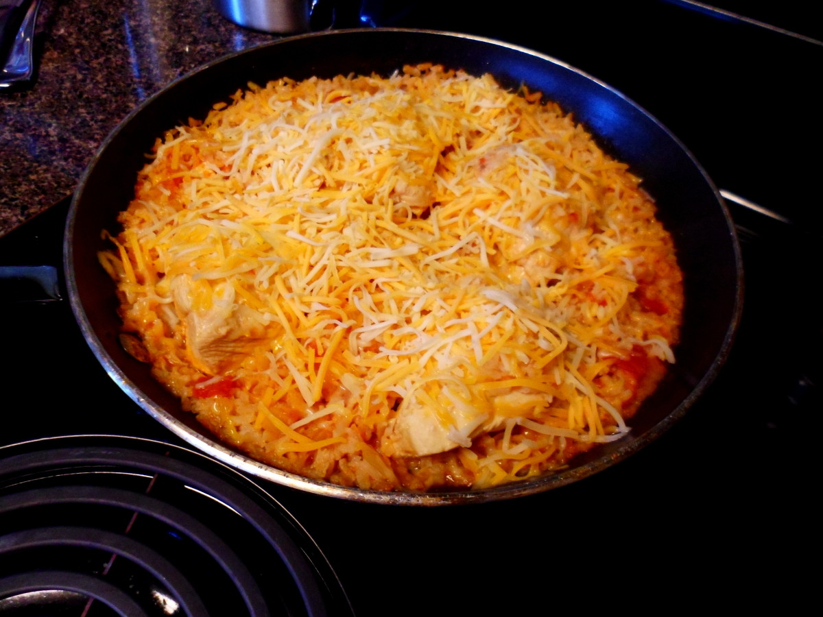 Remove from heat and cover with shredded cheese. Replace lid and allow cheese to melt for 5 minutes.