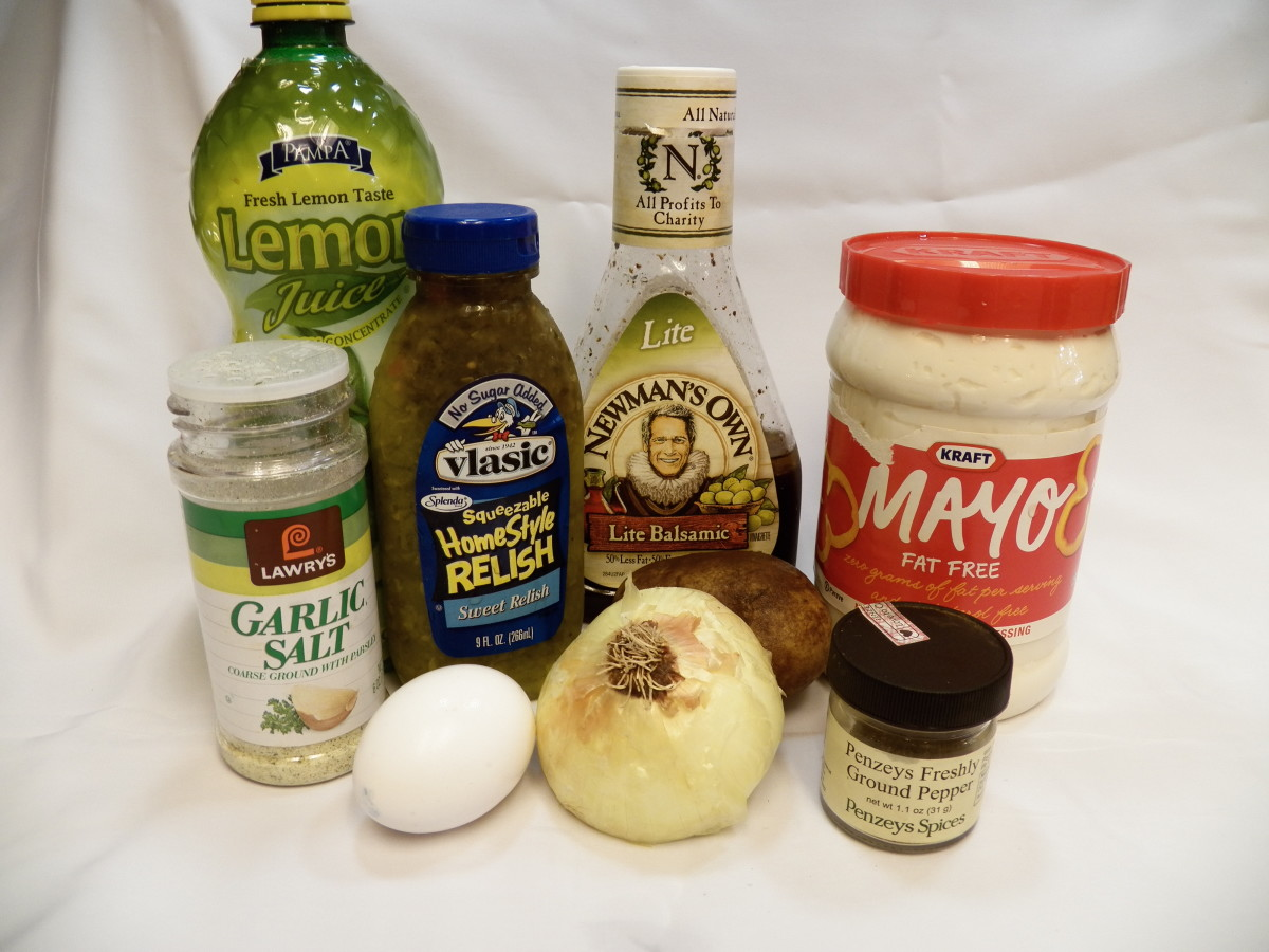 Ingredients you need.  I include the brands I used in my sample, but you can use any favorite dressing and mayonnaise.
