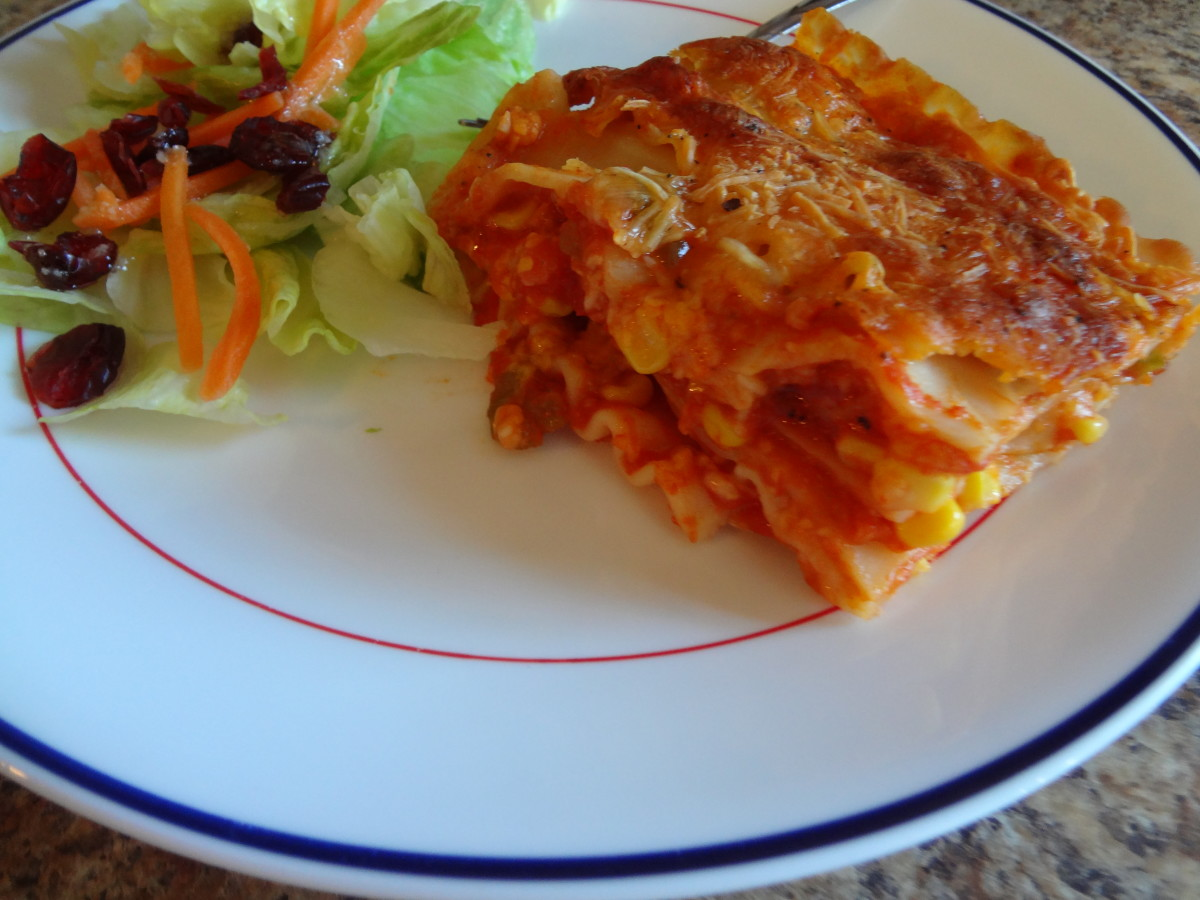 The sauce recipe is great for lasagna.