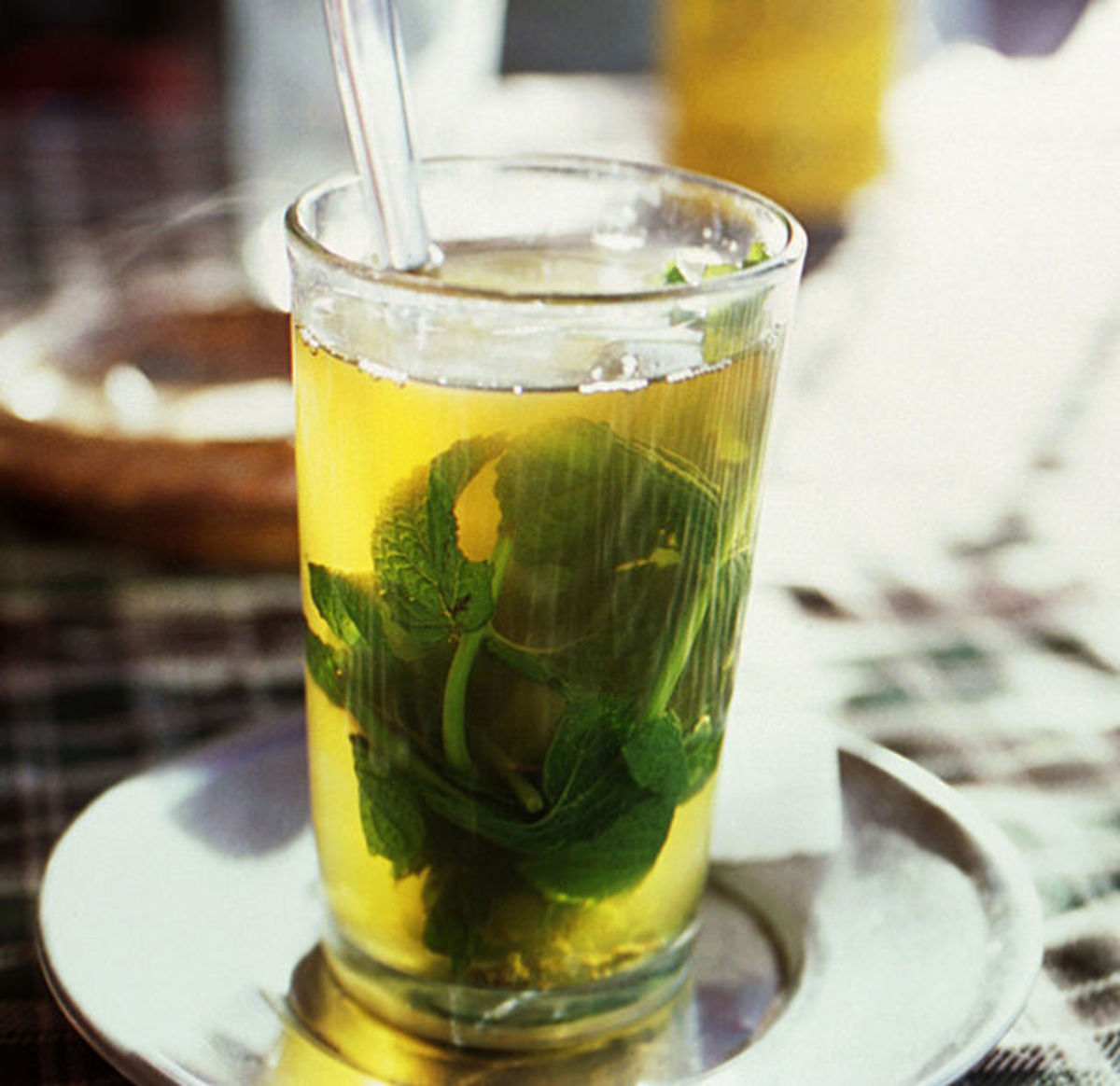 The delight of mint tea sucked through a sugar cube... and at every meal!