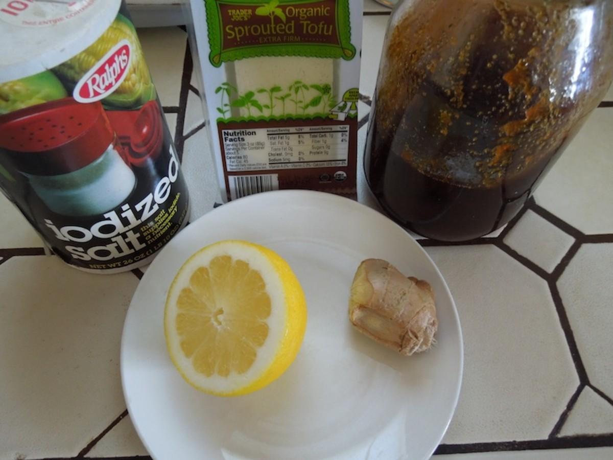 ingredients for Tofu-Ginger Salad Dressing for Broccoli Salad