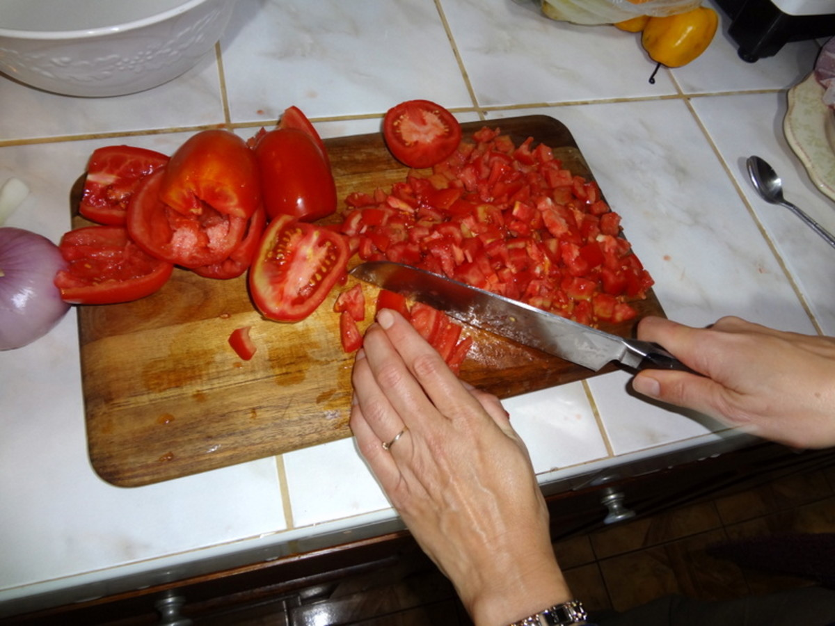 finely chop the tomatoes