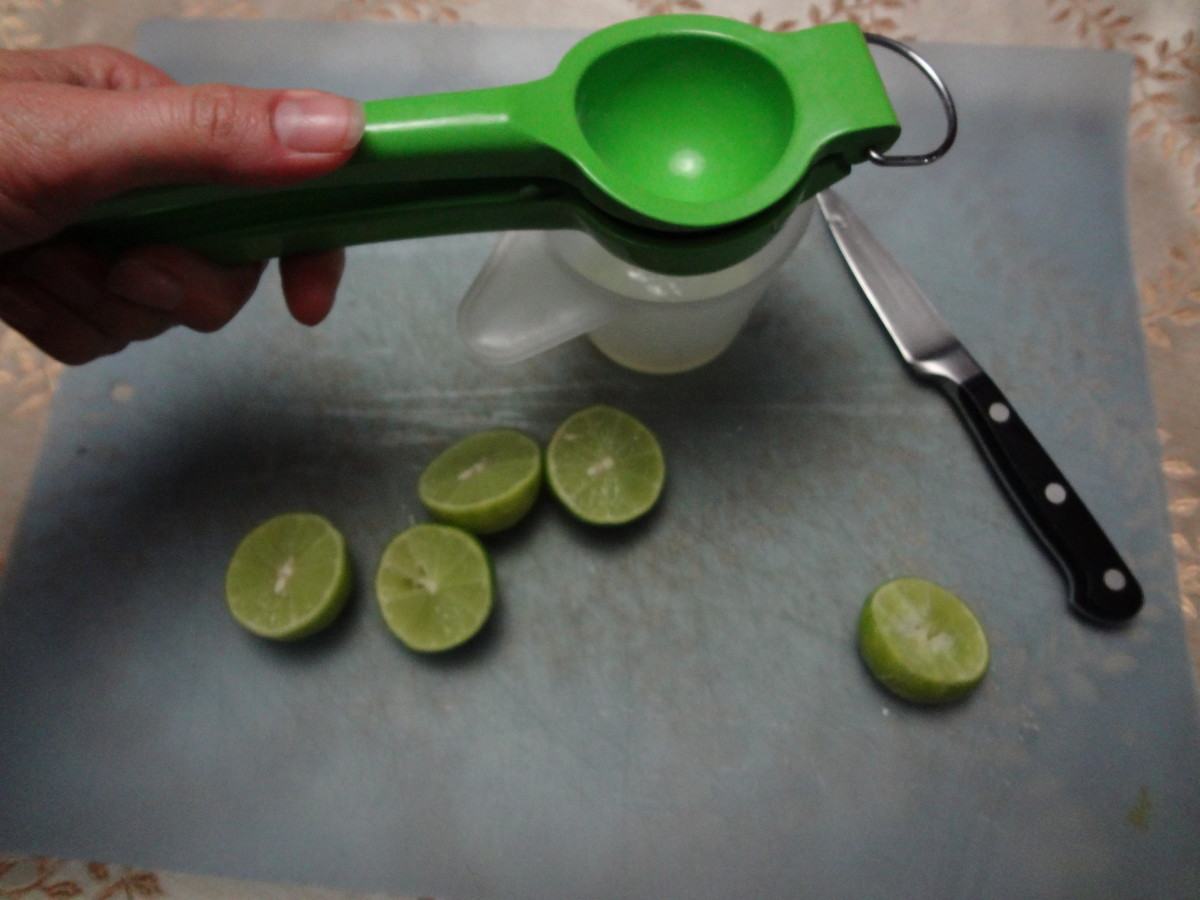 Lime squeezers are the best way to juice Key limes.