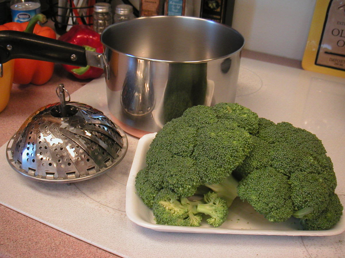 Three essentials for steaming broccoli.