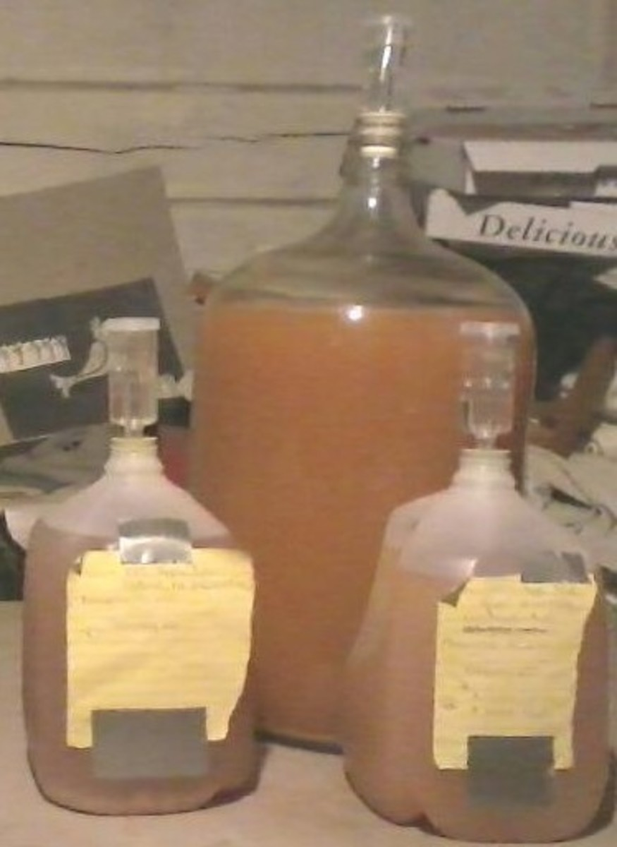 """Some of my cider while """"working."""""""