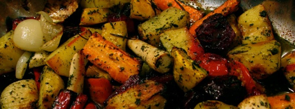 Roasted autumn and winter vegetables - great for snacks too!