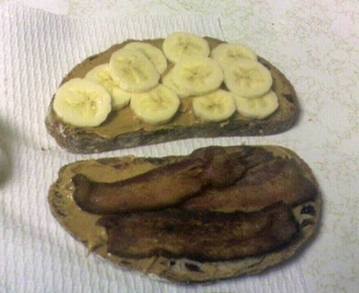 Banana and bacon sandwich filler.