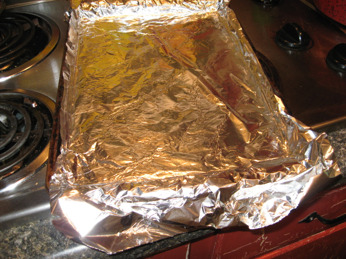 Line a cookie sheet with foil.