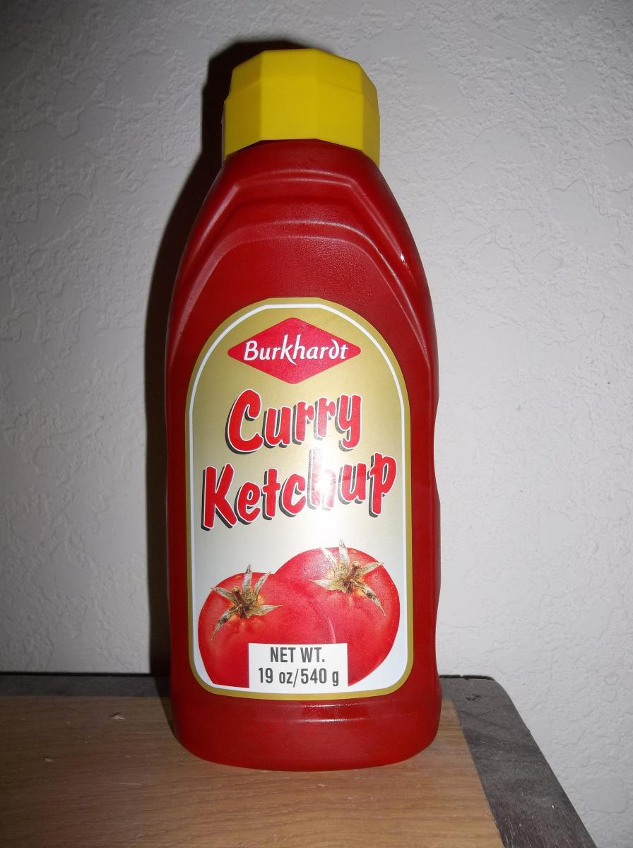 Curry ketchup bought in the good ole USA.