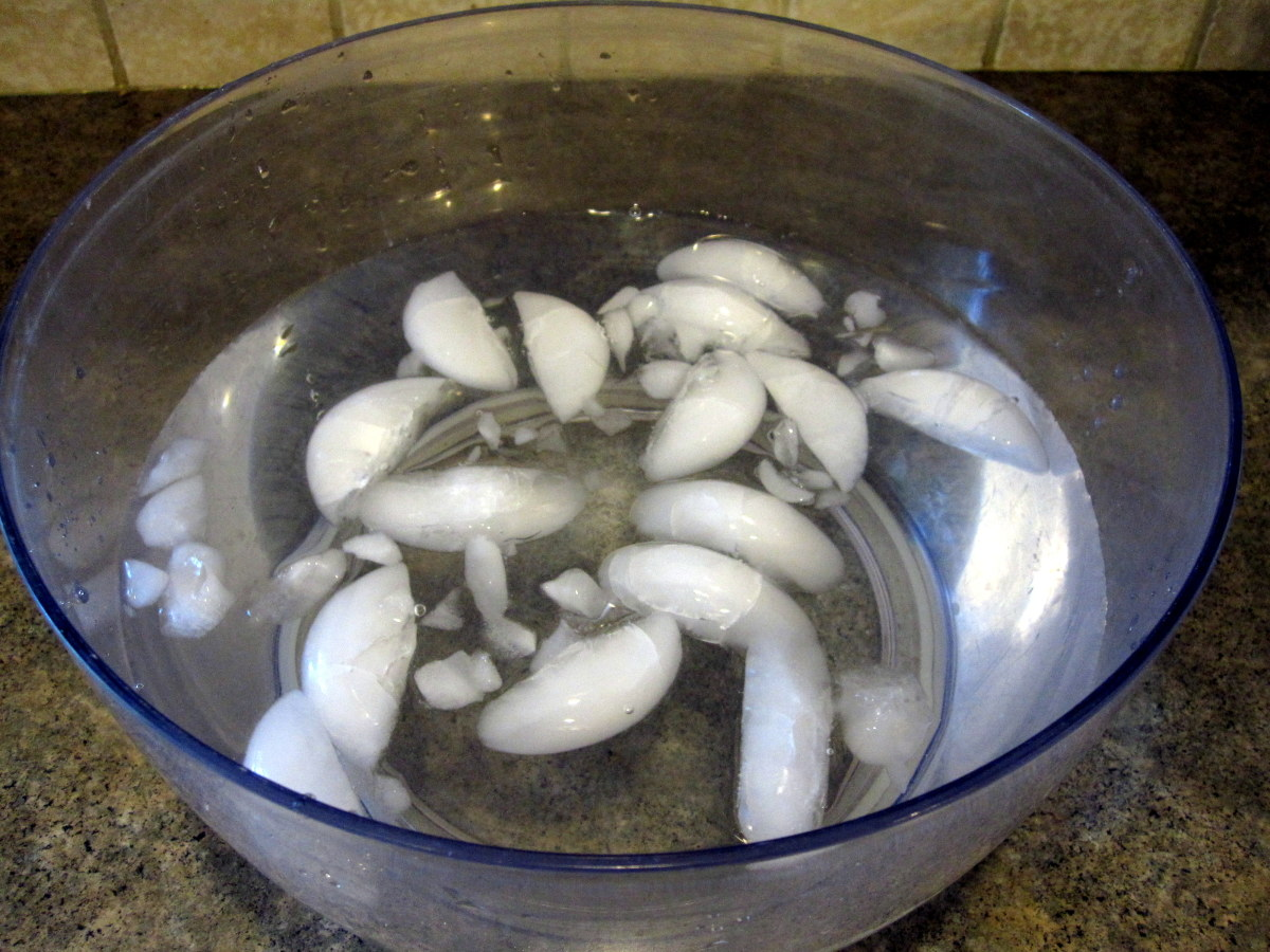 Prepare an ice-water bath before blanching.