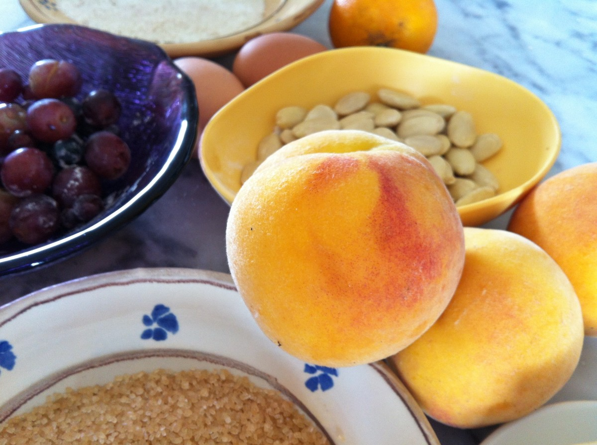 Ingredients for Garden Peach Cake