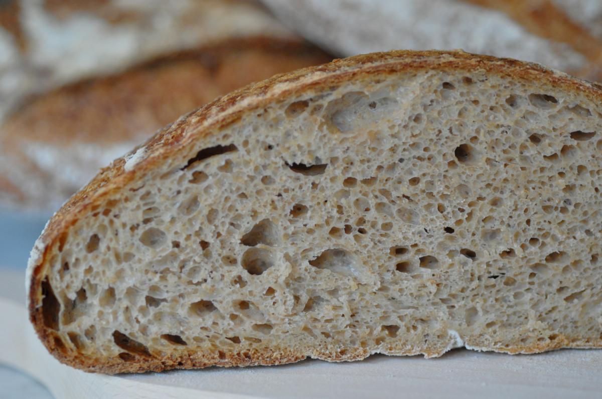 51 hour wholemeal, baker's flour and dark rye loaf. Image: © Siu Ling Hui