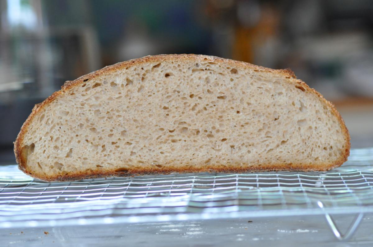 Cut section of barley flour sourdough loaf. Image: © Siu Ling Hui