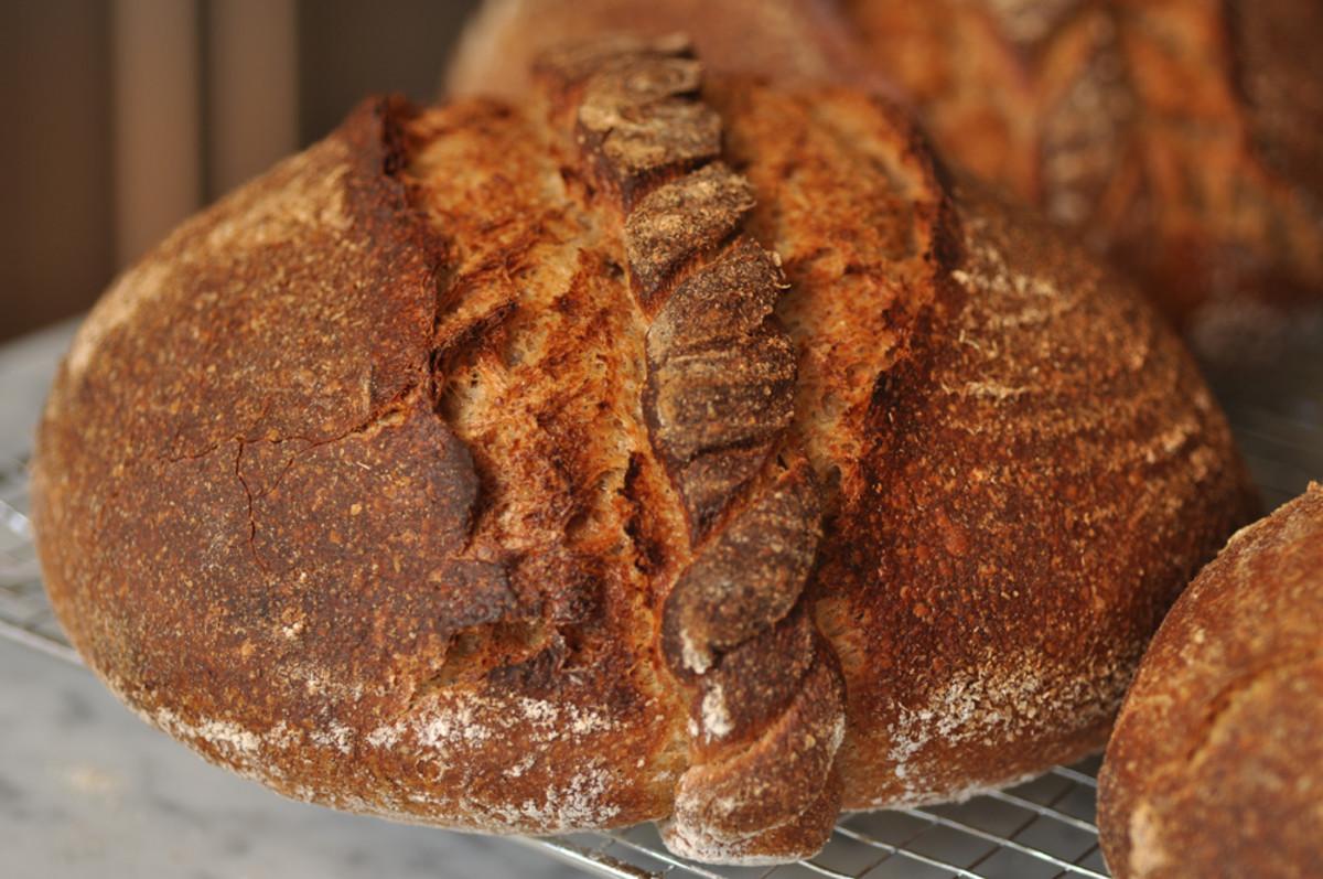 "Pain Cordon de Bourgogne. The dough ""cord"" naturally ""scores"" the bread. Image: © Siu Ling Hui"