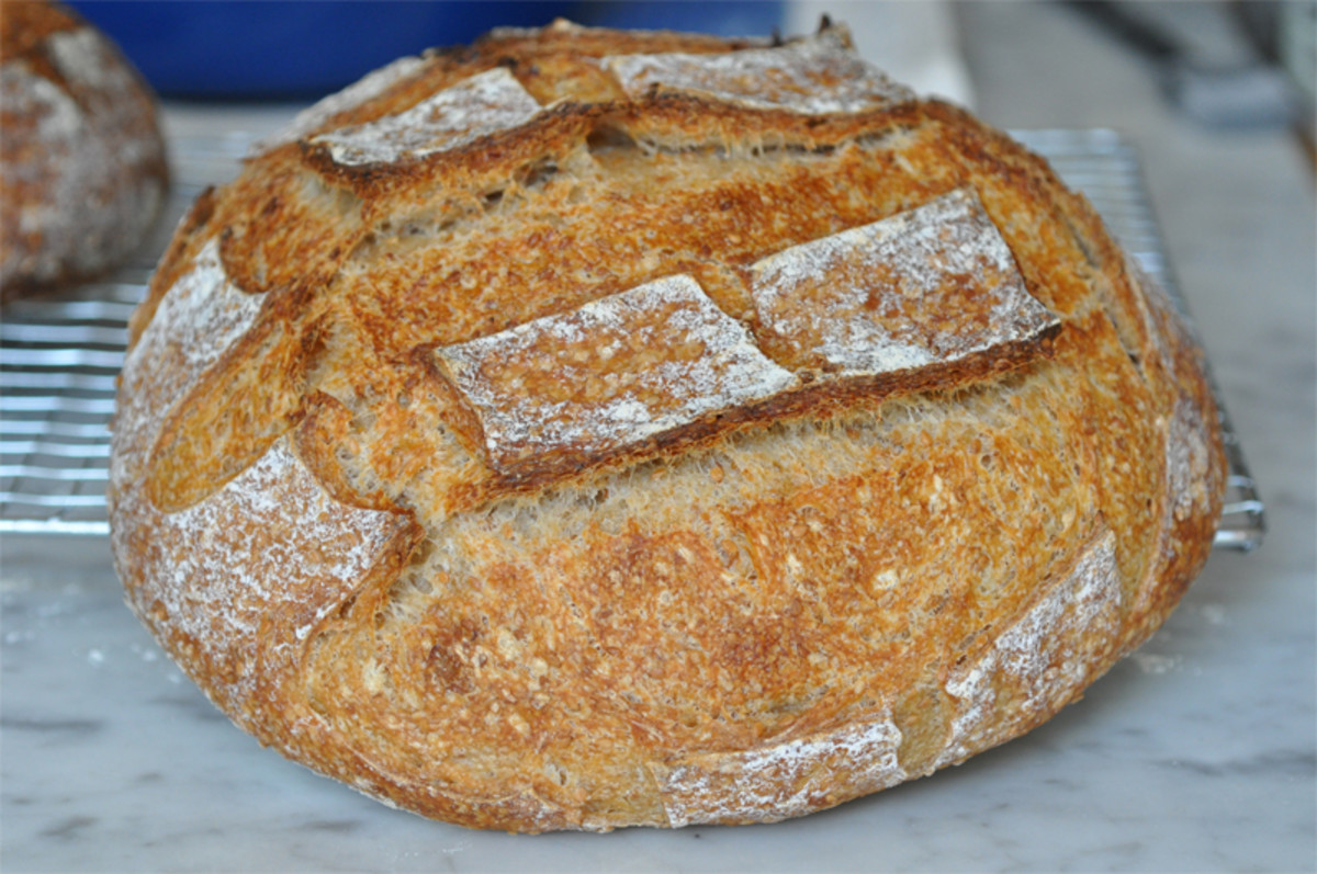 Sesame Bread Loaf 1. Getting better with structural shaping and slashing. Image: © Siu Ling Hui