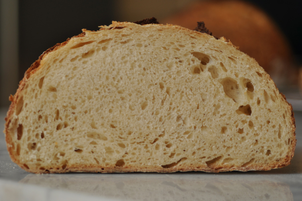 View of crumb of salt fermented soudough loaf. Image: © Siu Ling Hui