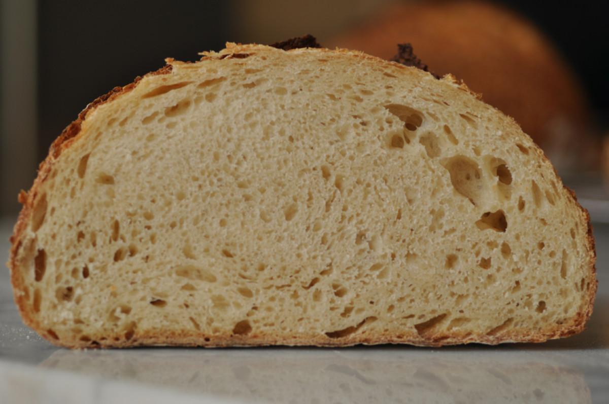 View of crumb of salt fermented soudough loaf. Image: © Siu Ling Hui