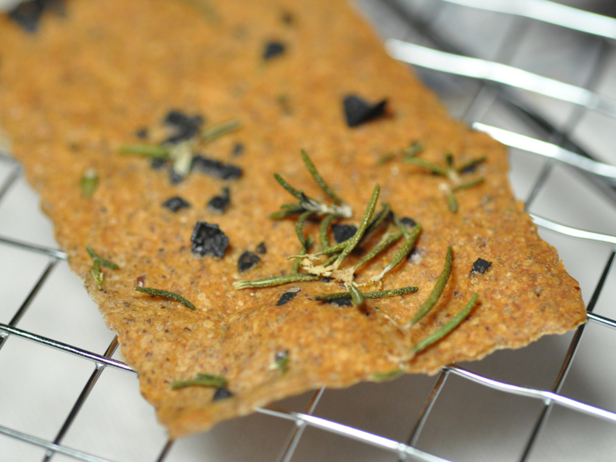 Levain Crackers with Cyprus Black Lava Sea Salt and Rosemary. Image: © Siu Ling Hui
