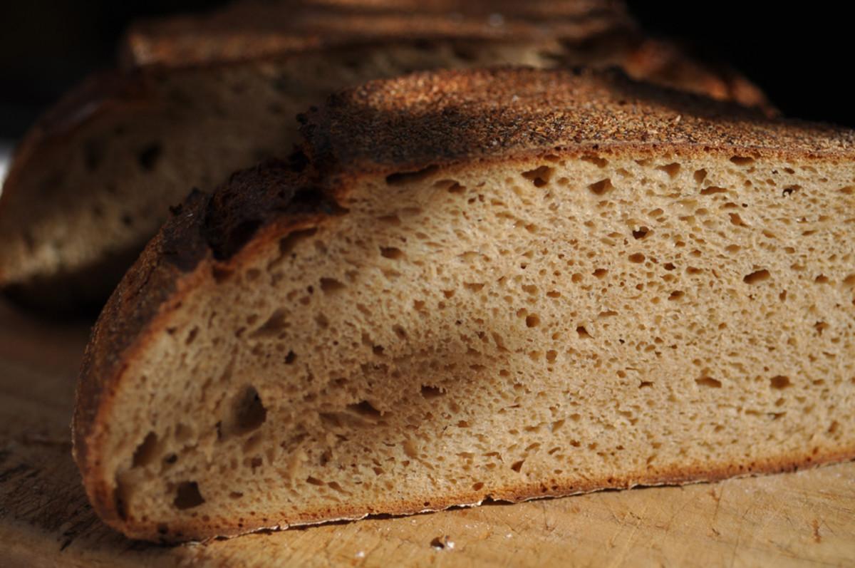 Crumb of Einkorn loaf. Image: © Siu Ling Hui