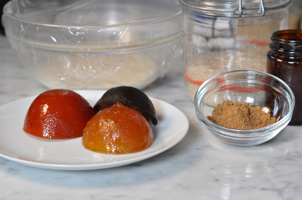 Peels, spice mix and the 2 leavenings for making up the dough. Image: © Siu Ling Hui