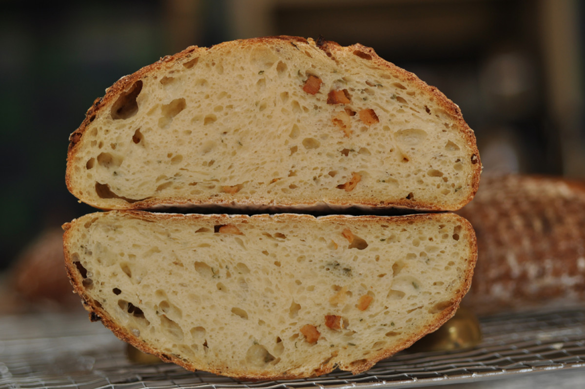 Cross section of one of the lard, garlic and rosemary loaves. Image: © Siu Ling Hui
