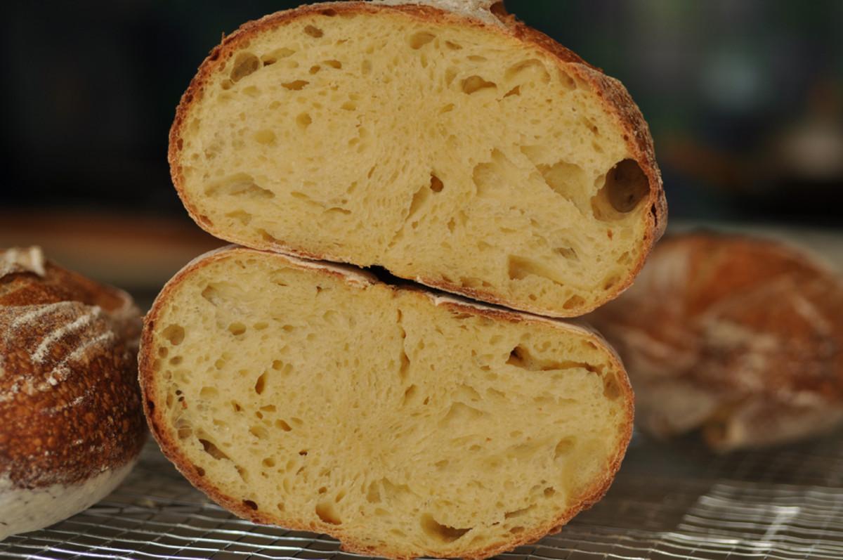 Crumb of my Pane Sardegna. Image: © Siu Ling Hui