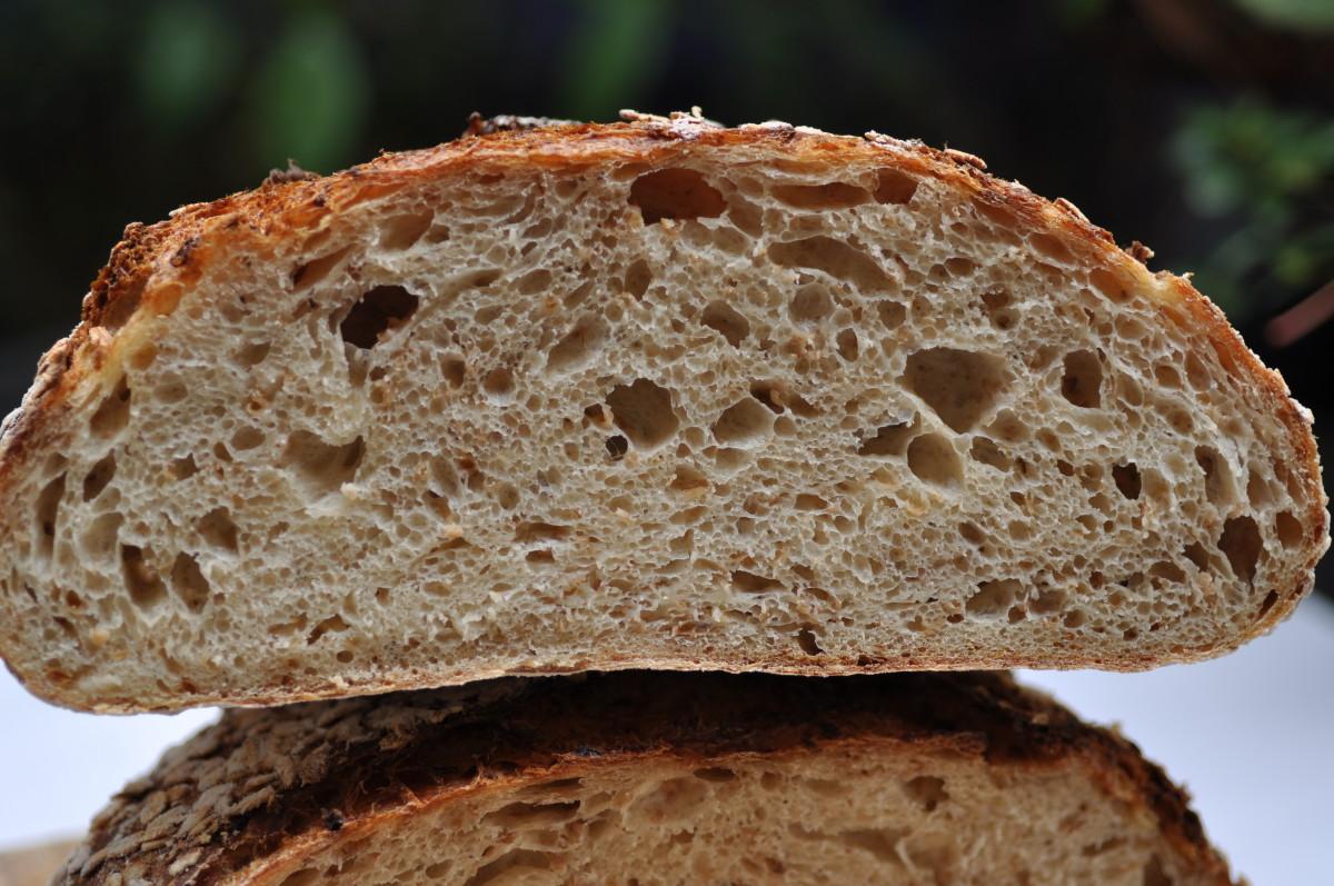 Crumb of Oat Porridge Bread Image: © Siu Ling Hui