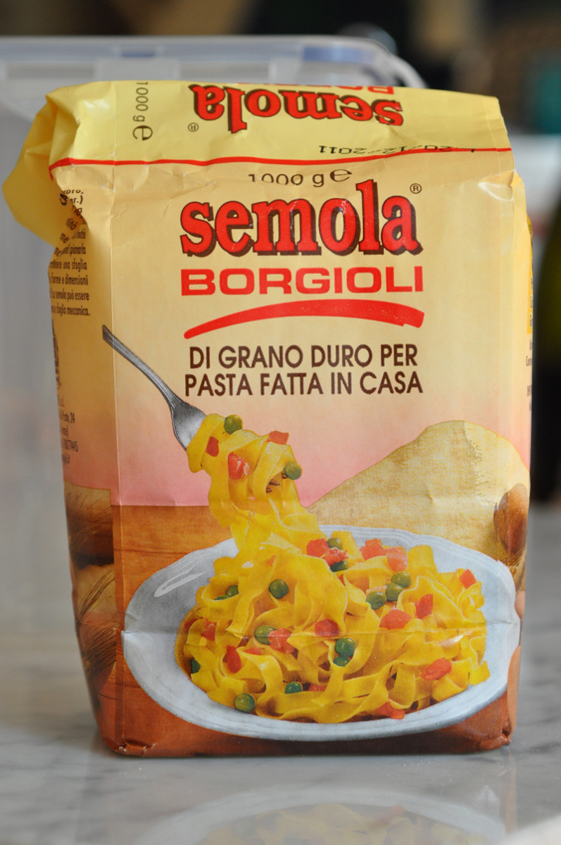 This semola is the same one that is used by artisanal pasta maker Martelli (one of my 2 favourite brands of dried pasta). It is finer than the one by Moretti. Image: © Siu Ling Hui