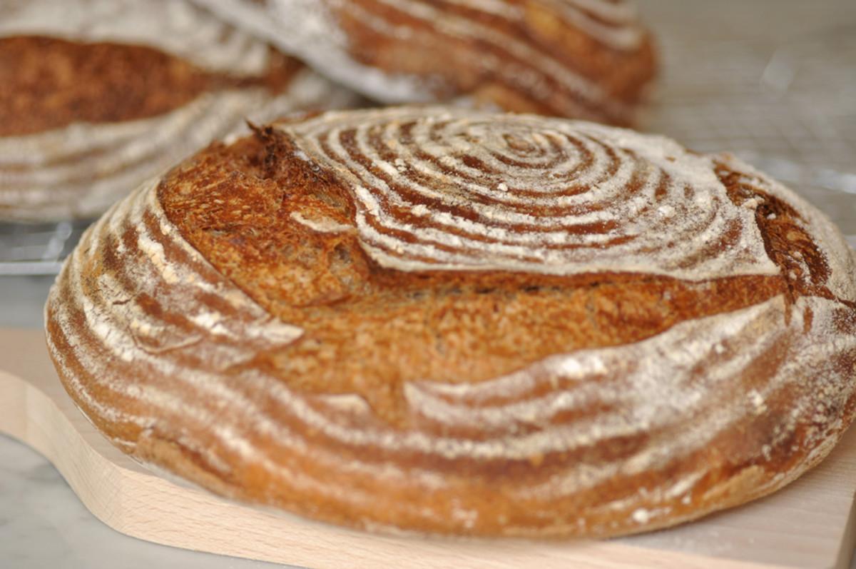 95% hydration sourdough made with 20% rye, 80% baker's flour. Image: © Siu Ling Hui
