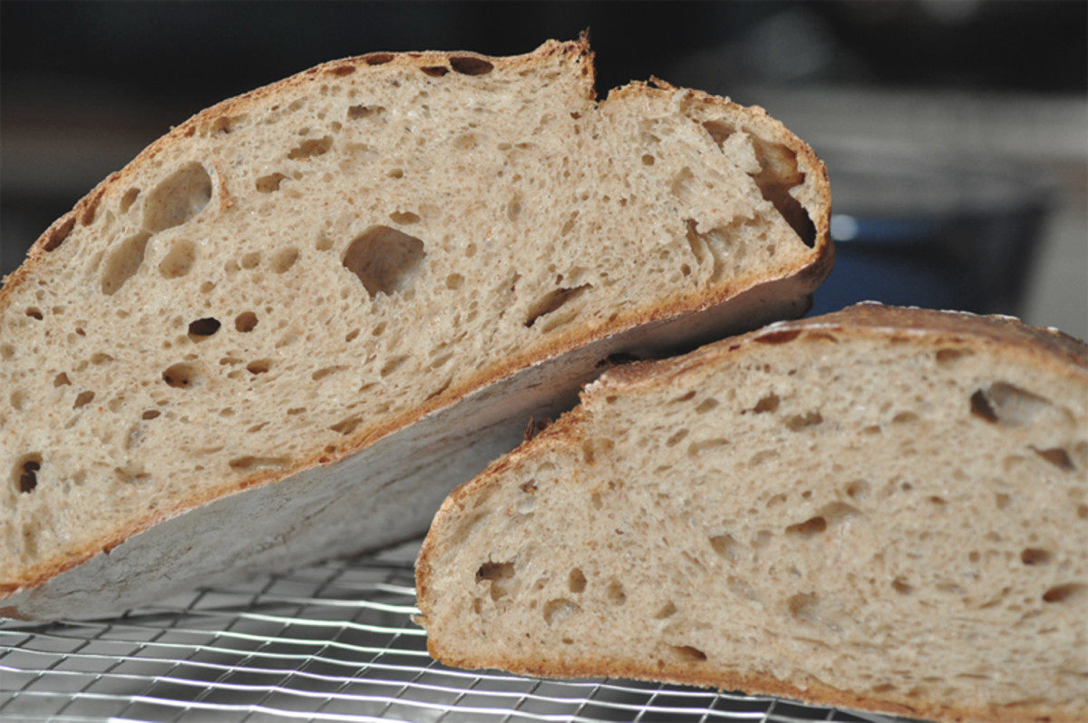 The smallest loaf. Proofed in a banneton. Baked at 200°C. Image: © Siu Ling Hui