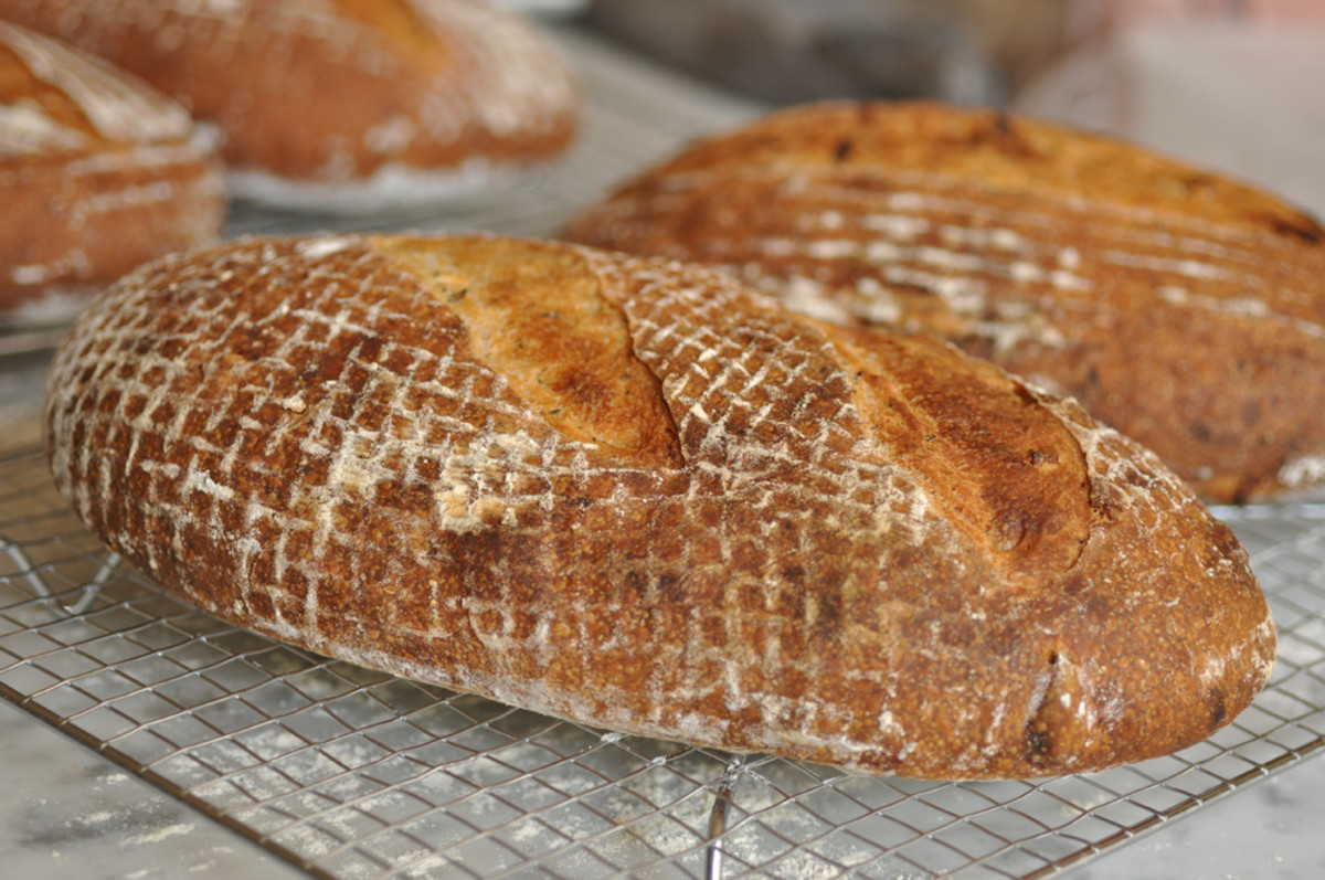 One of the loaves of lard, garlic and rosemary bread. Image: © Siu Ling Hui