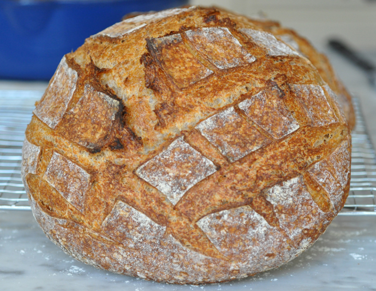 Sesame Bread Loaf 2. Botched the structural shaping AND the slashing! Image: © Siu Ling Hui
