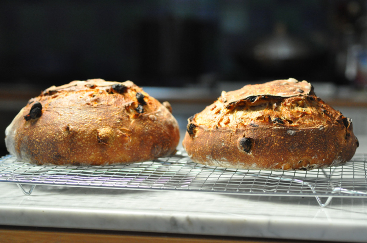 Two loaves of fruit bread (black raisins) Image: © Siu Ling Hui