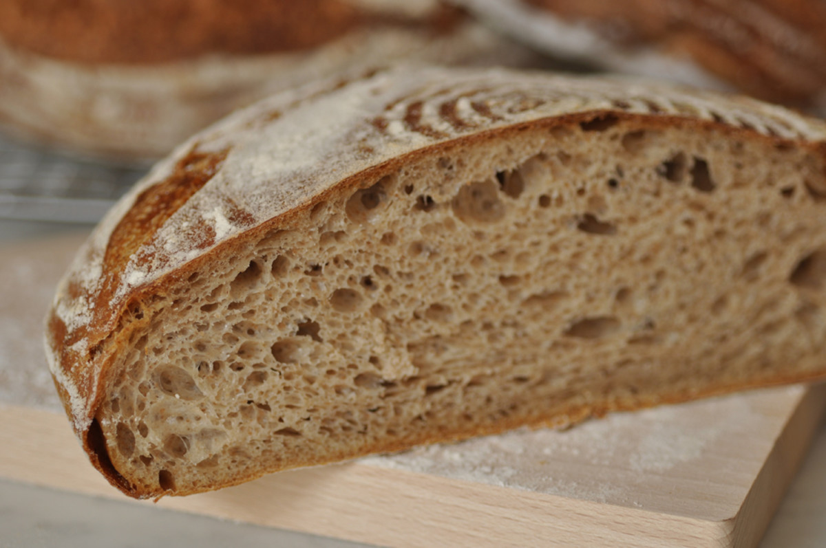 Section of 95% hydration sourdough. Image: © Siu Ling Hui