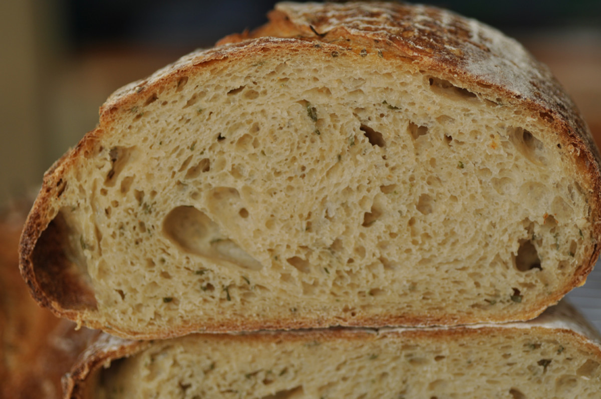 Crumb of Rosemary Bread Image: © Siu Ling Hui