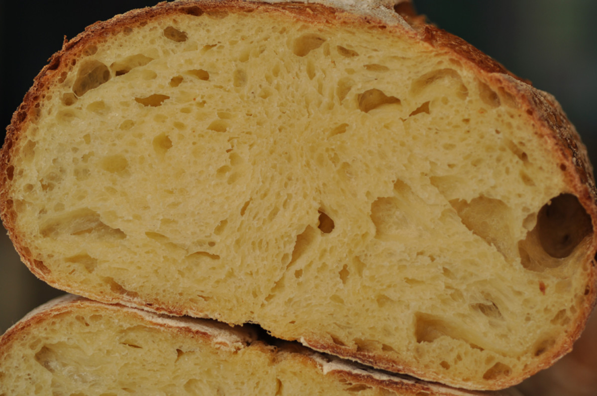 A closer look at the crumb of my Pane Sardegna. Image: © Siu Ling Hui