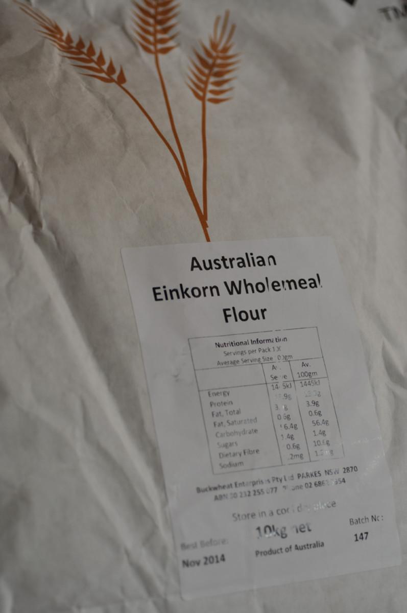 Australian Einkorn flour. Only 1 grower of this grain in Australia. Image: © Siu Ling Hui