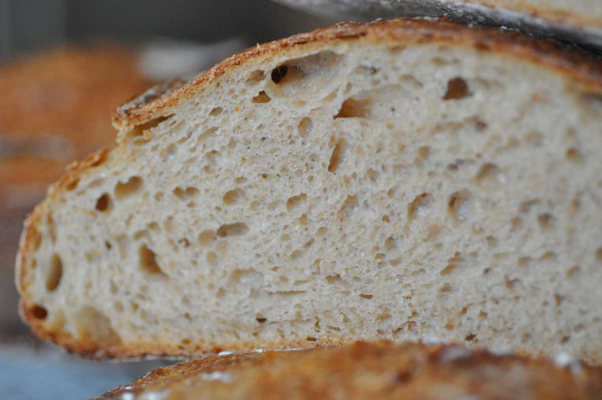 Section of wholemeal and plain flour loaf. Image: © Siu Ling Hui