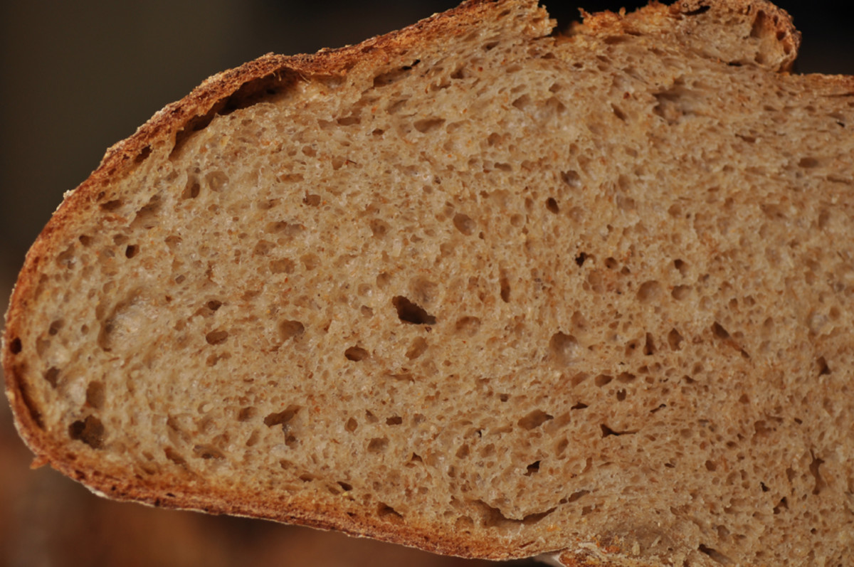 A close up view of the crumb of the Pain Cordon de Bourgogne. Image: © Siu Ling Hui