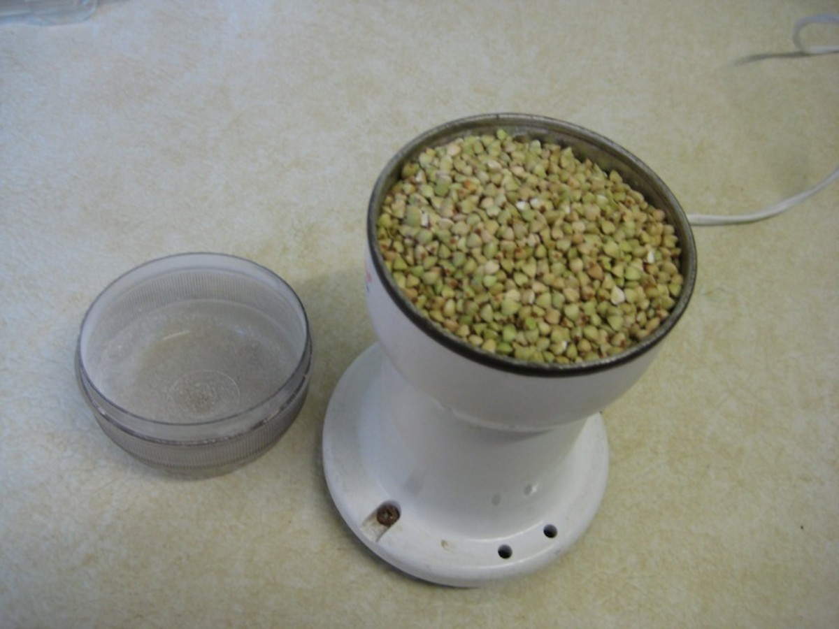 Grind the Buckwheat Groats in a Coffee Grinder or Food Processor