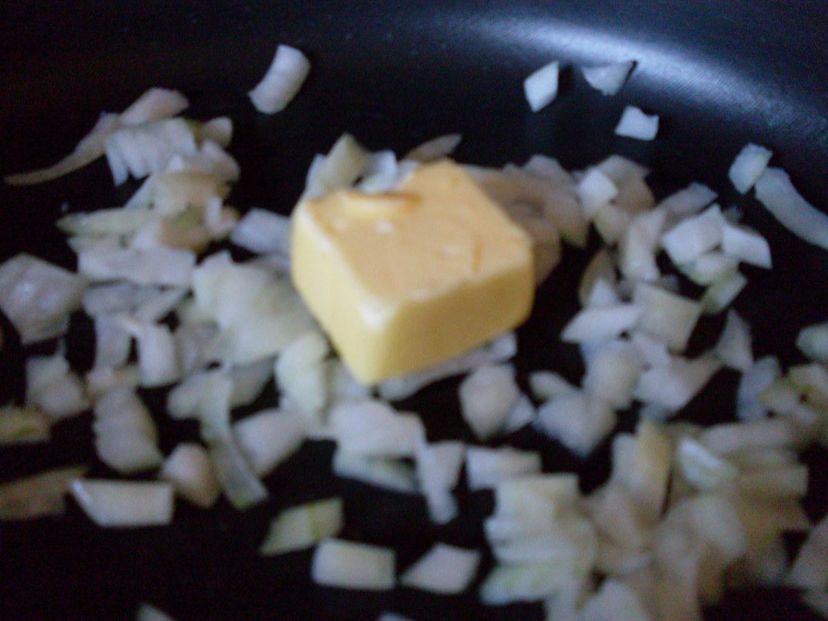 Saute the onions.