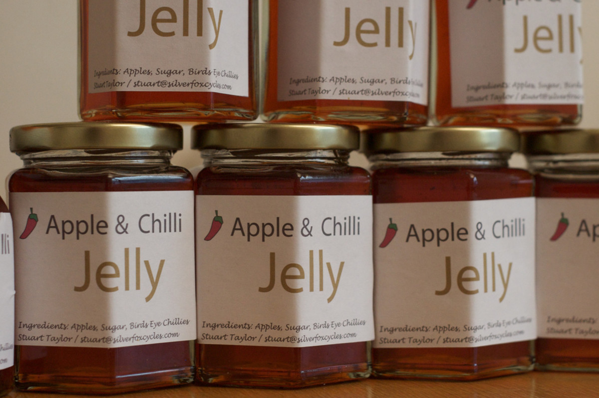Homemade jelly with labels to sell or use as gifts